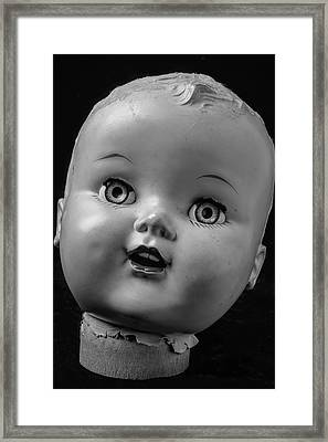 Found Dolls Head Framed Print by Garry Gay