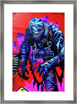 Found Graffiti 25 Mummy Framed Print by Jera Sky
