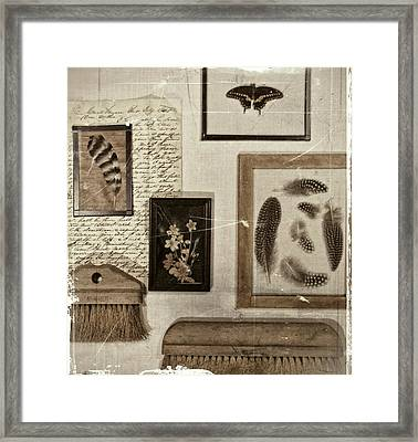 Found Object Assemblage Framed Print