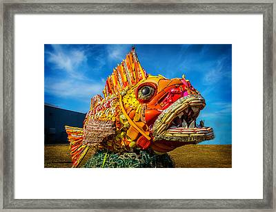 Found Objects Plastic Fish Framed Print