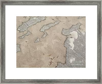 Found Sand Art Framed Print by Ann Horn