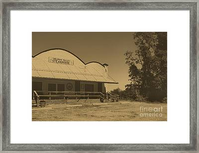 Found The Beef Framed Print by Maris Salmins
