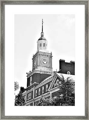 Founders Library - Howard University  Framed Print by Brendan Reals