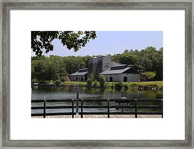 Foundry Building Fayette State  Park 2 Framed Print by Mary Bedy