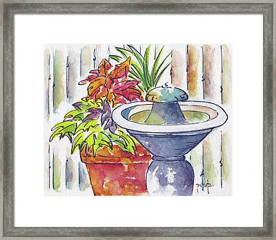 Fountain And Friends Framed Print