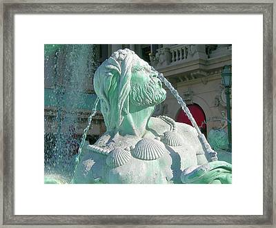 Framed Print featuring the photograph Fountain Blue by Randy Rosenberger