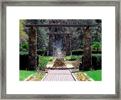 Fountain  Framed Print by Bob Johnson