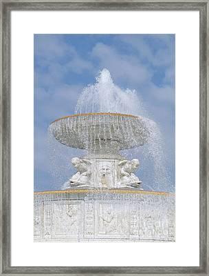 Fountain Fun Framed Print by Ann Horn