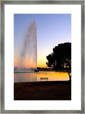 Fountain Hills Framed Print by Paul Kloschinsky
