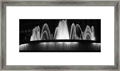 Fountain In Barcelona Framed Print