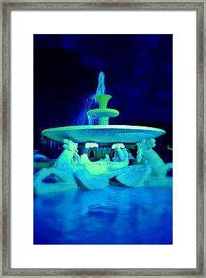 Fountain In Blue Framed Print by Marla McPherson
