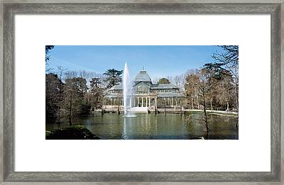 Fountain In Front Of A Palace, Palacio Framed Print