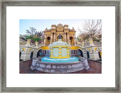 Fountain In Santiago, Chile Framed Print