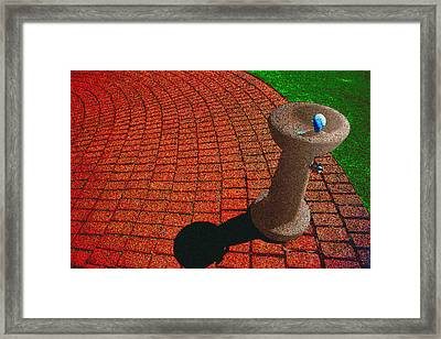 Fountain In The Park Framed Print by Paul Wear