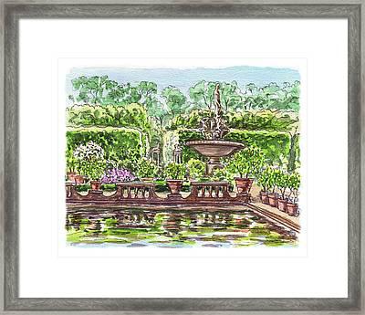 Fountain Island Boboli Gardens Florence Italy Framed Print