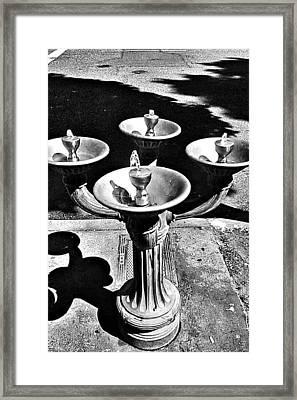 Fountain  Framed Print by Julie Boland