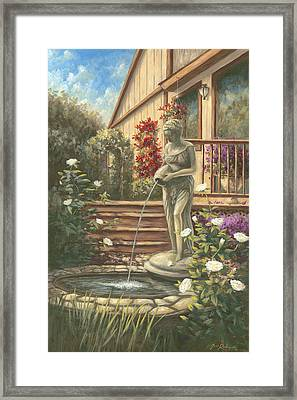 Fountain Lady Framed Print