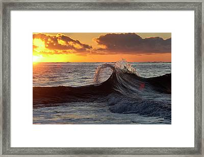 Fountain Of Gold. Framed Print by Sean Davey