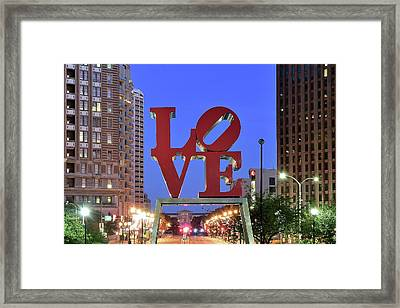 Fountain Of Love Framed Print by Frozen in Time Fine Art Photography