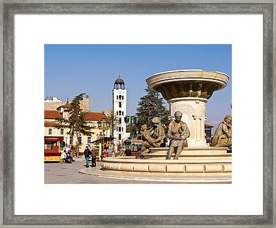 Fountain Of The Mothers Framed Print by Rae Tucker
