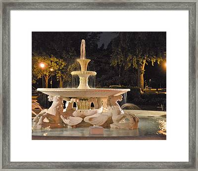 Fountain Of The Sea Horses Framed Print by Marla McPherson