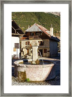 Fountain Of Vallouise - French Alps Framed Print
