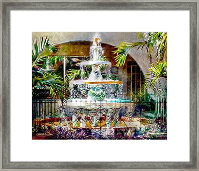 Fountain Of Water Framed Print