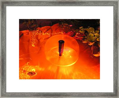 Fountain Of Water Framed Print by Richard Mitchell