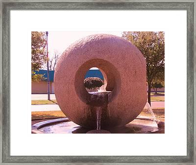Fountain On Camp Bowie Boulevard Framed Print