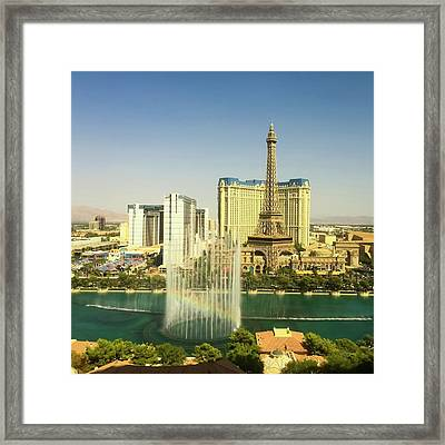 Framed Print featuring the photograph Fountain Rainbow by Chris Feichtner