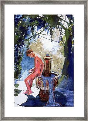 Fountain Framed Print by Rene Capone