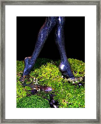 Fountain Sculpture Framed Print by Will Borden