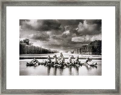 Fountain With Sea Gods At The Palace Of Versailles In Paris Framed Print by Simon Marsden