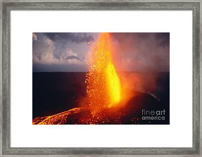 Fountaining Kilauea Framed Print by Allan Seiden - Printscapes