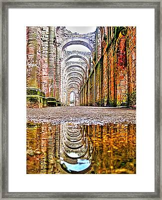 Framed Print featuring the photograph Fountains Abbey by Gouzel -