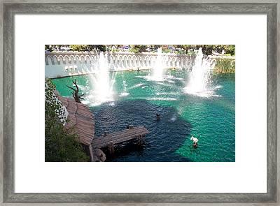 Fountains Framed Print by Alan Espasandin