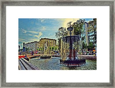 Fountains. Framed Print by Andy Za
