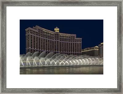 Fountains Of Bellagio Hotel Framed Print