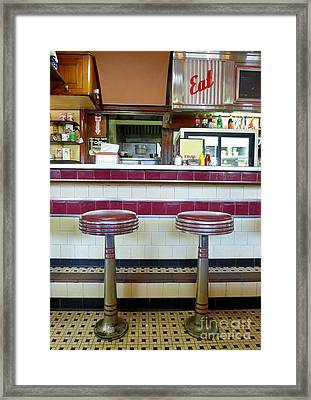 Four Aces Diner Framed Print by Edward Fielding