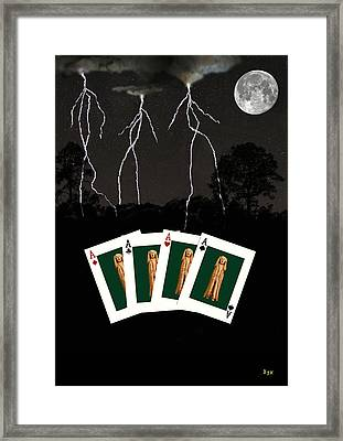 Four Aces Framed Print by Eric Kempson