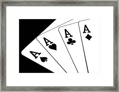 Four Aces I Framed Print by Tom Mc Nemar