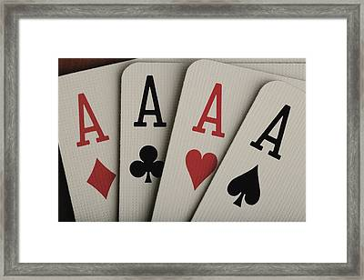 Four Aces Studio Framed Print by Darren Greenwood
