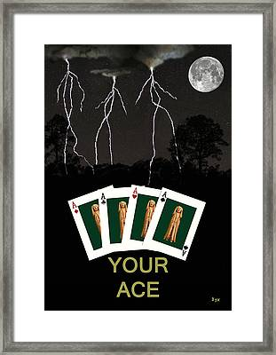 Four Aces Your Ace Framed Print by Eric Kempson