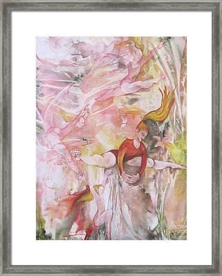 Four Acrobats Framed Print by Georgia Annwell