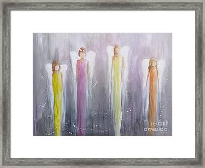 Four Angels Framed Print
