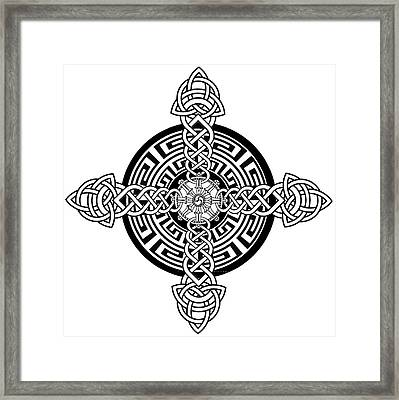 Four Armed Celtic Cross Framed Print by Stephen Humphries