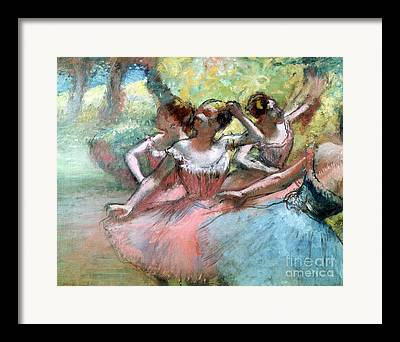 Ballet Dancers On The Stage Framed Prints