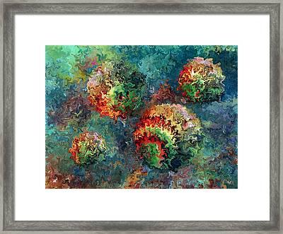 Four Balls Framed Print by Rafi Talby