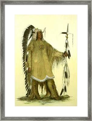 Four Bears Mandan Chief 1833 Framed Print