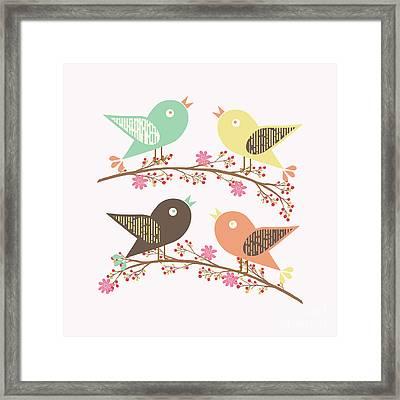 Four Birds Framed Print